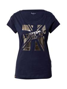Pepe Jeans T-Shirt ''Alessa'' dunkelblau / gold