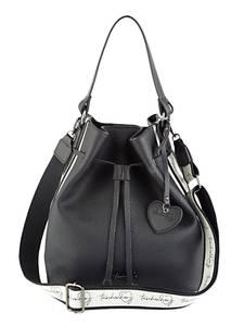 Beuteltasche schwarz Taschenherz