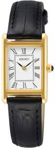SEIKO Uhr schwarz / weiß / gold
