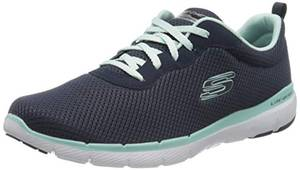Skechers Damen Flex Appeal 3.0-First Insight Sneaker, Navy Aqua, 38 EU