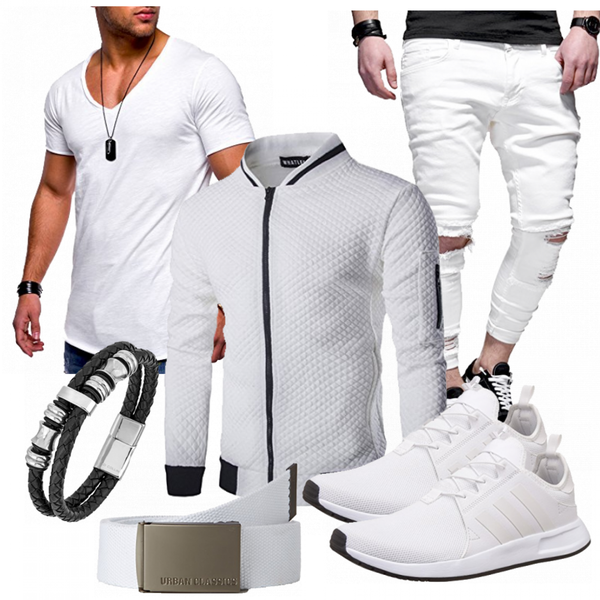 Maenner Outfit weiss MaennerOutfits.de