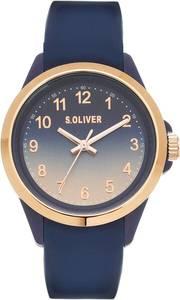 s.Oliver Quarzuhr ''SO-4267-PQ'' blau / gold