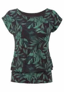 LASCANA Shirt dunkelgrün / schwarz