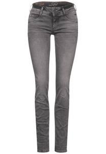 Grijze casual fit denim - grey heavy random bleach