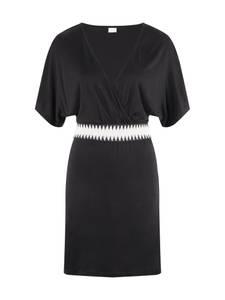 LASCANA Strandkleid schwarz / weiß