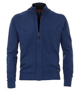Redmond Cardigan/Strickjacke mit Zipper Jeansblau, Größe: M