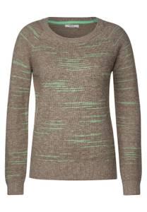 CECIL Damen Pullover in Melange-Optik in Grün,Braun