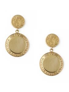 Orelia Ohrringe ''Grecian Coin'' gold