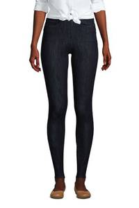 High Waist Jeggings, Damen, Größe: 34 30 Normal, Blau, Elasthan, by Lands'' End, Tiefes Indigo
