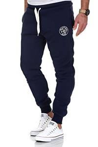 Amaci&Sons Herren Jogginghose Sporthose Sweatpants Jogger Trainingshose 20002 Navyblau 3XL