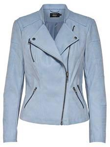 ONLY Female Jacke Leder-Look 36Faded Denim