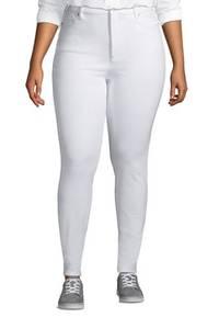 High Waist Leggings-Jeans mit Stretch in großen Größen, Damen, Größe: XL Plusgrößen, Weiß, Denim, by Lands'' End, Weiß