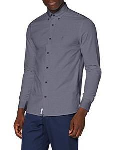 Tommy Hilfiger Herren Peached Soft Poplin Shirt Hemd, Desert Sky, XS
