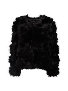 NEW LOOK Jacke aus Kunstfell schwarz