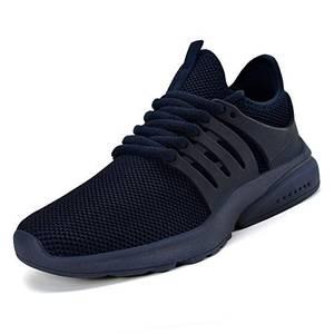 ZOCAVIA Herren Damen Turnschuhe Schuhe Ultraleichte Laufschuhe Atmungsaktive Outdoor Sportschuhe Wanderschuhe Blau (Marine) 43EU