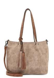Emily & Noah Shopper '' Bag in Bag Surprise '' beige / braun