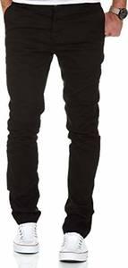 Amaci&Sons Herren Slim Fit Stretch Chino Hose Jeans 7100 Schwarz W32/L32