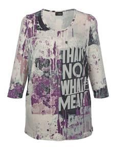 Shirt lila/grau MIAMODA