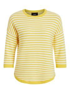 OBJECT Pullover MORGAN gelb / weiß