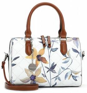 TAMARIS Handtasche ''Anastasia'' weiß / grün / goldgelb / violettblau / rostbraun