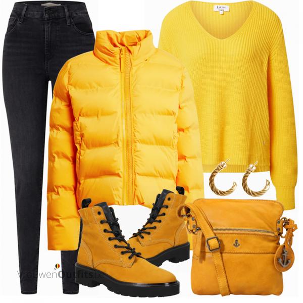 Outfit in warme winterkleuren VrouwenOutfits.be