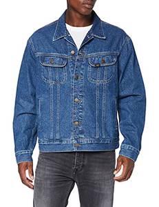 Lee Herren Rider Jacket' Jeansjacke, Bleu (Get Dark Pt), Small