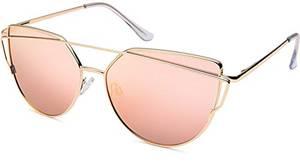 UVprotect Damen Katzenauge cat eye Sonnenbrille pink large W99-1L