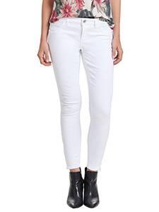 ONLY Damen Jeans-Hose Regular Ankle Skinny-Jeans weiß Röhre, Farbe:Weiß, Weite/Länge:31/32