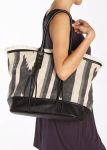 LASCANA Strandtasche beige / schwarz