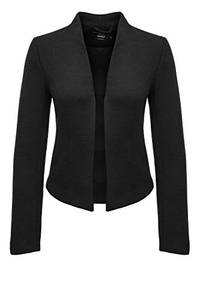 ONLY Damen onlDONNA Ricks Short L/S TLR Blazer, Schwarz (Black Detail:Solid), 36