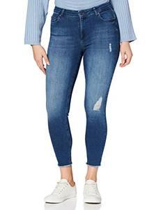 ONLY Damen onlBLUSH MID ANK RAW JEANS REA2077 NOOS Skinny Jeans, Blau (Medium Blue Denim Medium Blue Denim), XS / 34L