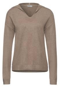 Street One Damen Pullover im Hoodie Style in Beige