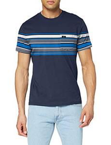 Lee Mens Stripy Pocket Tee T-Shirts, Navy, M