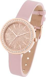 Uhr veredelt mit Swarovski® Kristallen in rosa für Damen von bonprix