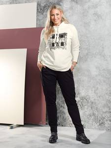 Sweatshirt creme-weiß MIAMODA