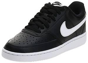 Nike Damen Court Vision Low Sneaker, Black White, 38 EU