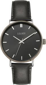 s.Oliver Uhr schwarz / grau