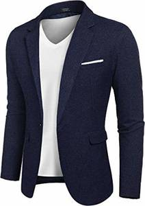 MAXMODA Men's Blazer Slim Fit Jacket with Front Pocket Sporty Jacket Leisure Suit - Navy Blau - Medium
