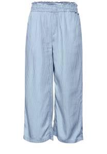 Loose fit denim culotte - indigo yarn dye striped