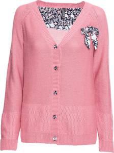 Strickjacke langarm  in pink für Damen von bonprix