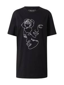 Merchcode Shirt ''One Line Rose'' schwarz / weiß