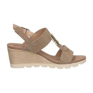CAPRICE Sandaletten hellbeige / dunkelbeige / weiß