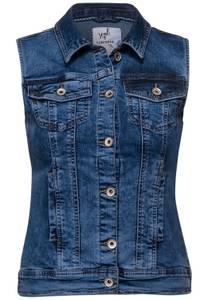 Denim jas - light blue used wash