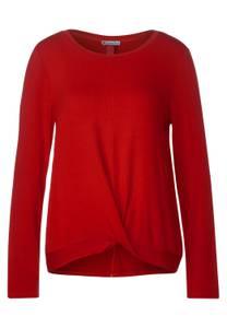 Street One Damen Shirt mit Knotendetail in Rot