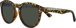 ZIPPO Sonnenbrille rund Green Flash Leopard Transparent mischfarben / braun