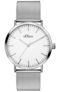 s.Oliver Armbanduhr silber / weiß