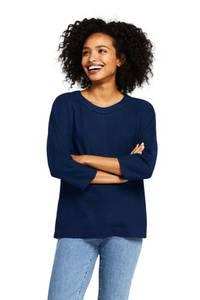 Wollmix-Pullover mit Rundhalsausschnitt, Damen, Größe: L Normal, Braun, by Lands'' End, Soft Zimt-Meliert