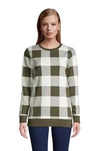 Sweatshirt in Petite-Größe, Damen, Größe: S Petite, Weiß, Jersey, by Lands'' End, Weiß