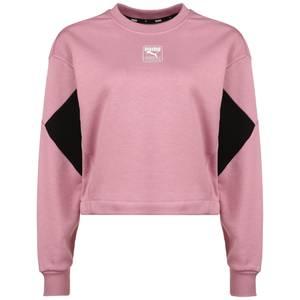 PUMA Sweatshirt ''Rebel'' schwarz / altrosa / weiß