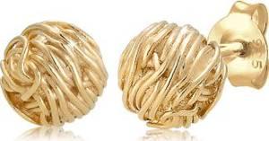 Elli Paar Ohrstecker Kreis Ball Verdreht Geo Organic Look 925 Silber